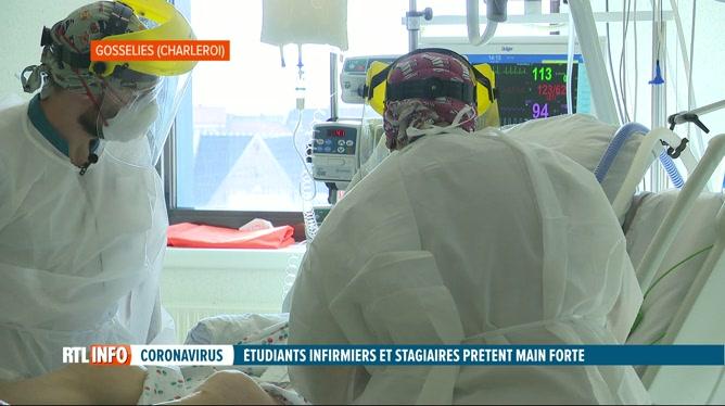 Les étudiants infirmiers et stagiaires débarquent en renfort dans les hôpitaux: voici leur quotidien (vidéo)