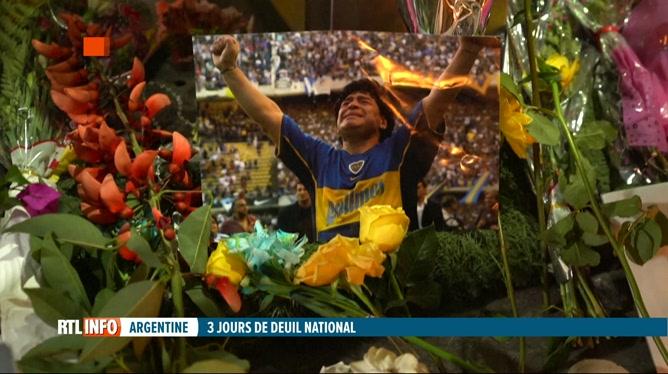 Décès de Diego Maradona: l'Argentine pleure son héros national