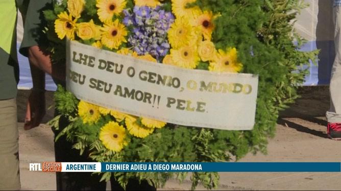 Diego Maradona a été enterré hier soir lors d'une cérémonie privée