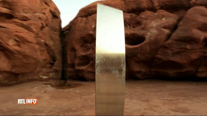 Mystère autour d'un monolithe en métal dans un désert de l'ouest américain