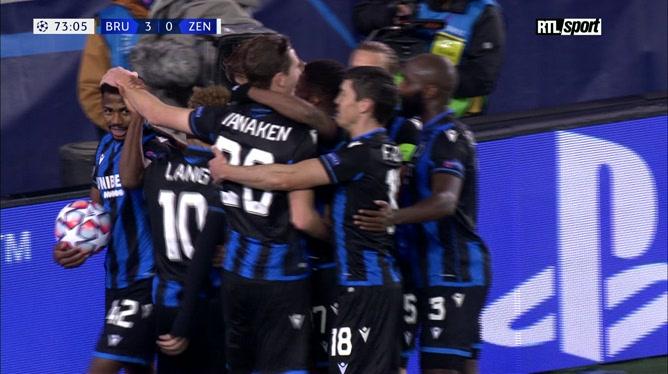Club Bruges - Zenit (3-0): Lang alourdit le score, les Russes assommés (vidéo)
