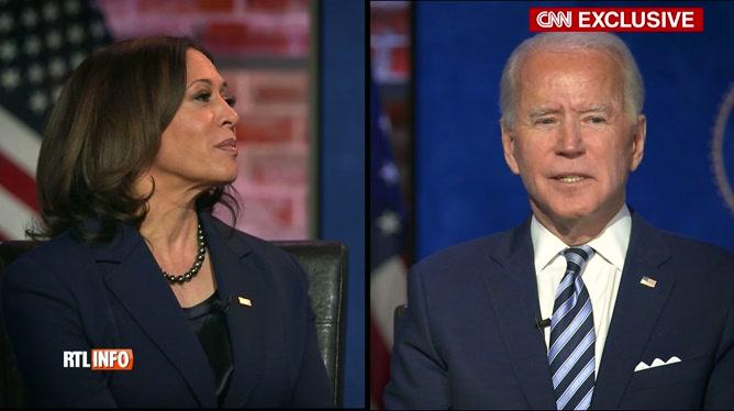 Etats-Unis: première interview de Joe Biden et Kamala Harris sur CNN