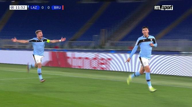Lazio - Club Bruges: Joaquin Correa ouvre le score pour les Romains (vidéo)