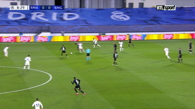Real Madrid - Borussia Mönchengladbach: Karim Benzema ouvre le score