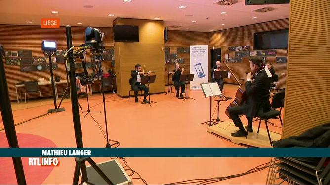 L'orchestre philharmonique de Liège joue à l'hôpital de la Citadelle