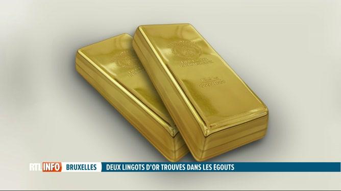 2 lingots d'or découverts dans les égouts de Bruxelles
