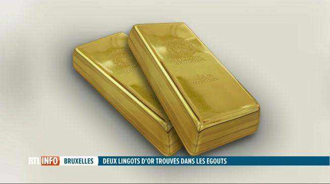 2 lingots d'or découverts dans un égout à Bruxelles