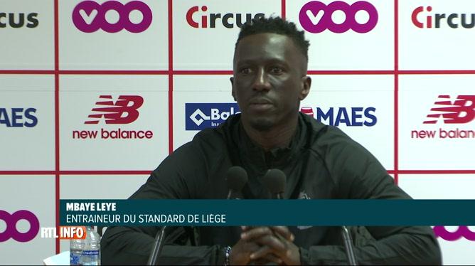 Premier entraînement et première conférence de Mbaye Leye au Standard