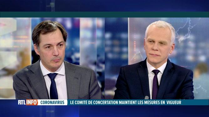 Coronavirus: Alexander De Croo est l'invité du RTLINFO 19H
