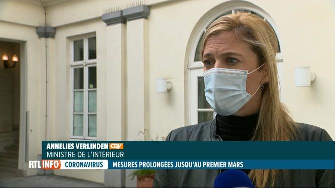 Coronavirus: les mesures sanitaires prolongées jusqu'au 1er mars
