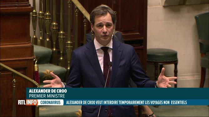 Coronavirus: la Belgique plaidera pour l'interdiction des voyages dans l'UE