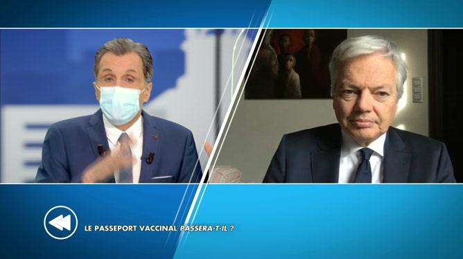 Didier Reynders sur le passeport vaccinal: