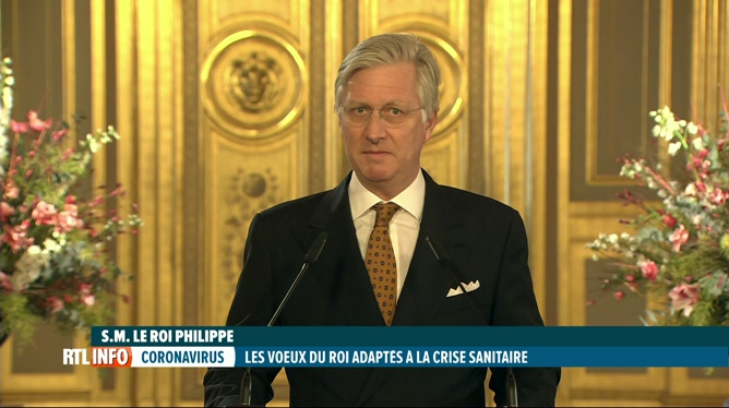 Le Roi a adressé ses voeux aux autorités sur fond de crise du coronavirus