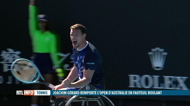 Tennis: Joachim Gérard remporte l'Open d'Australie en fauteuil roulant
