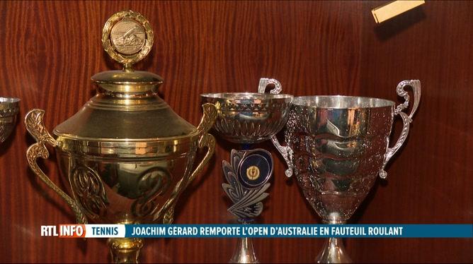 Tennis: Limelette célèbre la victoire de Joachim Gérard à Melbourne
