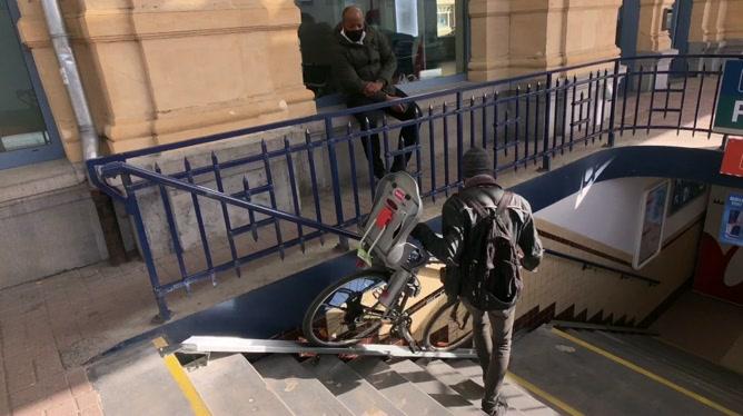 Des rampes à vélo en gare d'Arlon