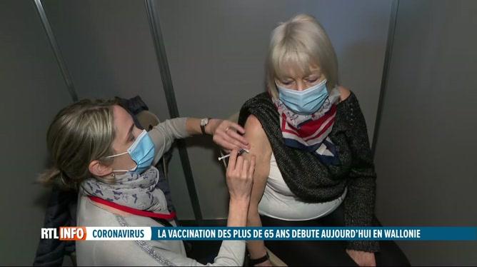 Coronavirus: la vaccination des plus de 65 ans a débuté en Wallonie
