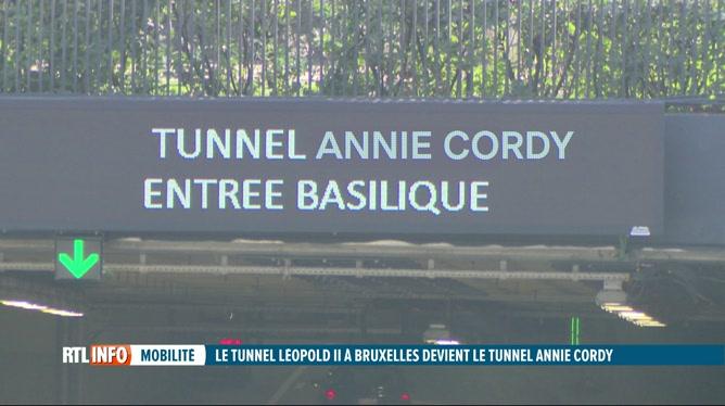 Bruxelles: le tunnel Léopold II sera rebaptisé tunnel Annie Cordy