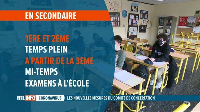 Codeco: la rentrée scolaire aura lieu le 19 avril, avec des restrictions