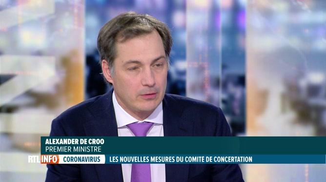 Codeco: Alexander De croo commente en plateau les nouvelles mesures