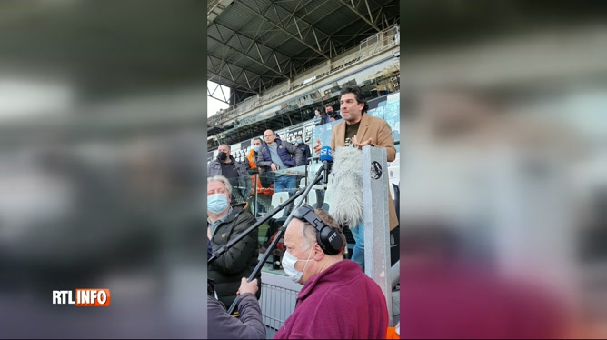 Des supporters du Sporting de Charleroi ont envahi le stade