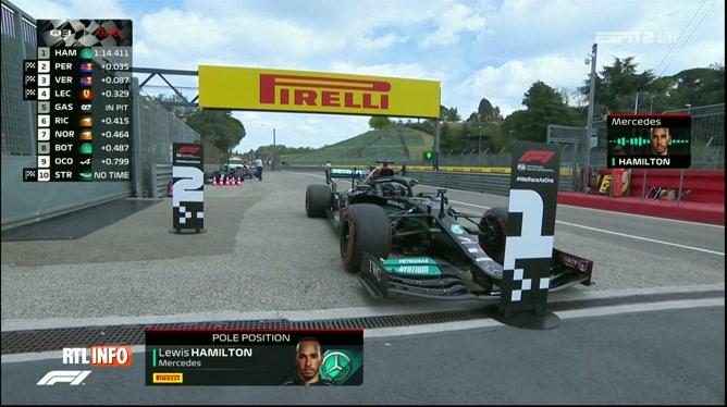 F1, Grand Prix d'Emilie Romagne: Lewis Hamilton en pôle position
