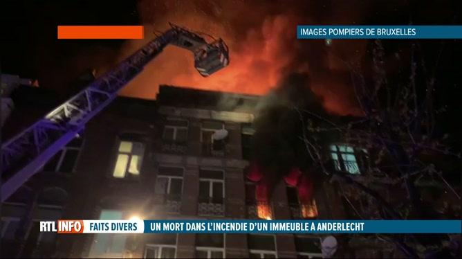 Incendie à Anderlecht cette nuit: 24 personnes sont à l'hôpital