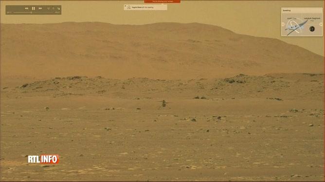 Un hélicoptère a survolé quelques secondes le sol de Mars