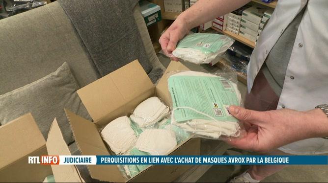 Coronavirus: perquisitions autour de l'achat de masques Avrox par l'Etat belge