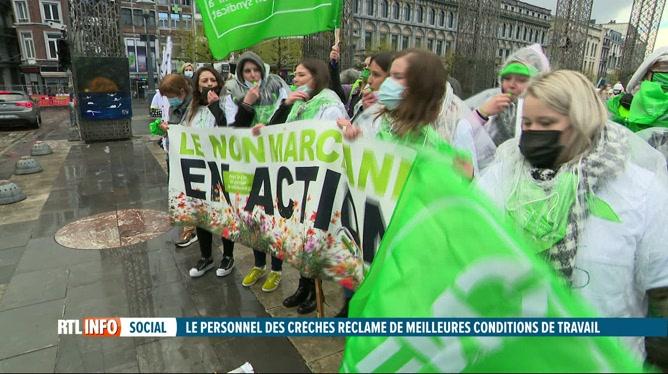 De nombreuses crèches sont en grève en Wallonie et à Bruxelles