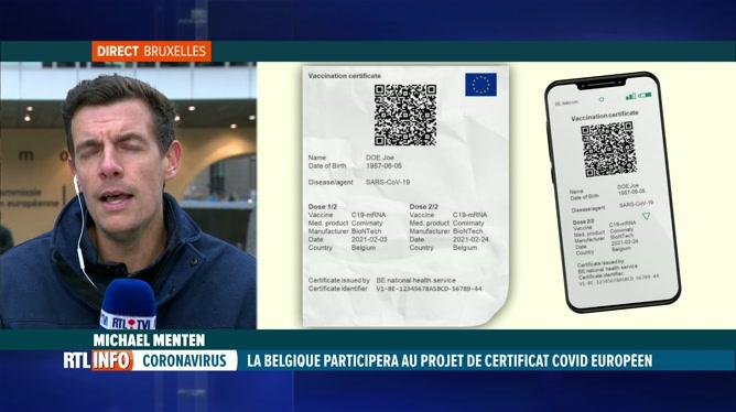 Certifcat Covid: la Belgique fera partie du projet pilote européen