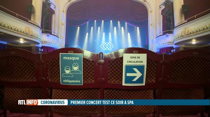 Coronavirus : un premier concert-test a lieu ce soir à Spa