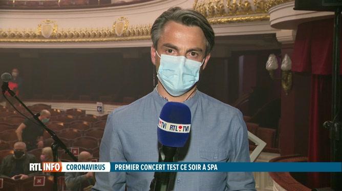 Coronavirus : un premier concert-test ce soir à Spa