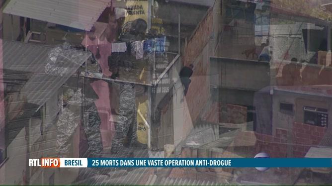 Brésil: 25 morts lors d'une opération anti-drogue dans une favela de Rio