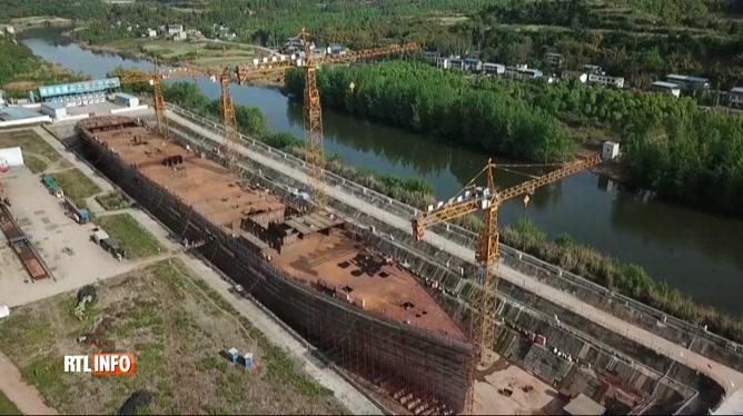 Une réplique exacte du Titanic en cours de construction en Chine