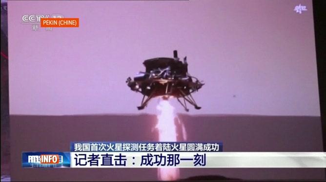 Un robot chinois s'est posé sur la planète Mars