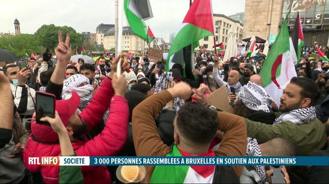 Manifestation à Bruxelles en souvenir de la Nabka palestinienne