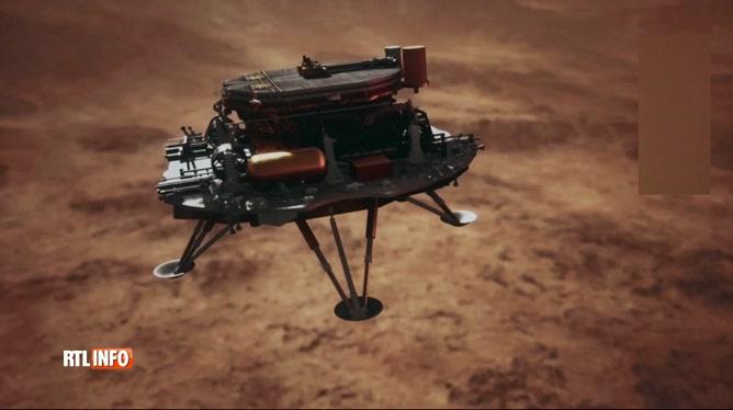Le robot chinois Zhurong s'est posé sur la planète Mars