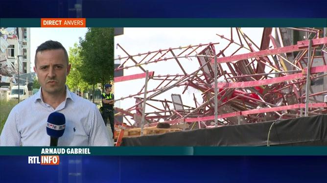 Anvers: effondrement dans un bâtiment en travaux, 1 décès et 5 disparus