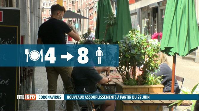 Coronavirus: 8 personnes à table et ouverture jusqu'à 1h du matin dans l'horeca