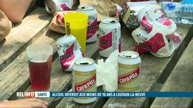 Consommation d'alcool interdite aux moins de 16 ans à Louvain-la-Neuve