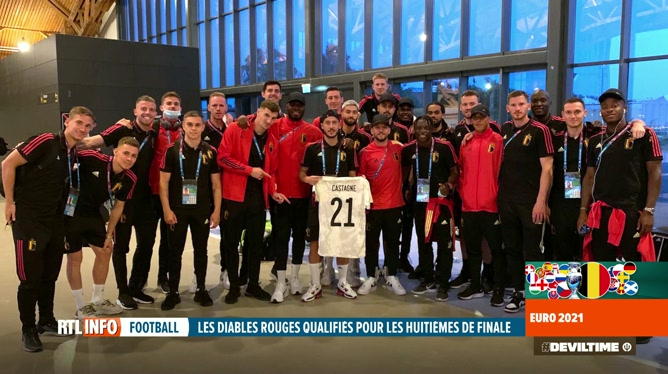 Euro 2020: les Diables ont dédicacé leur victoire à Timothy Castagne