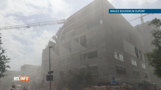 Effondrement dans un bâtiment en travaux à Anvers
