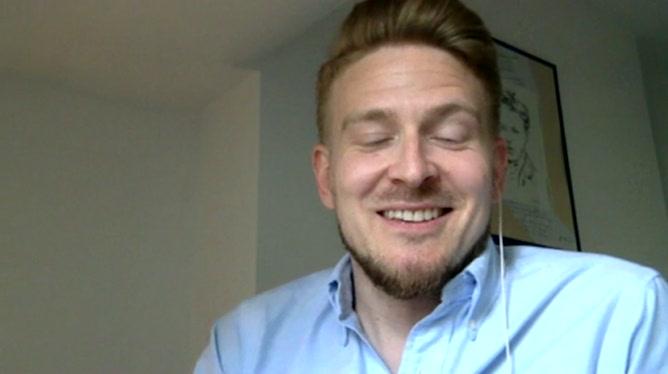 Matty Salakari, supporter finlandais qui vit à Bruxelles