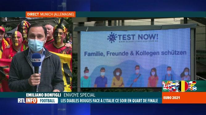 Euro 2020, Belgique-Italie: test Covid pour les Belges à Munich avant le match