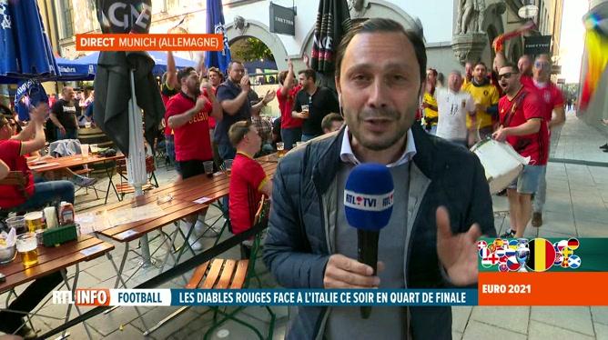 Euro 2020, Belgique-Italie: l'ambiance monte à Munich à deux heures du match