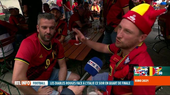 Euro 2020, Belgique-Italie: les Belges présents à Munich croient en la victoire