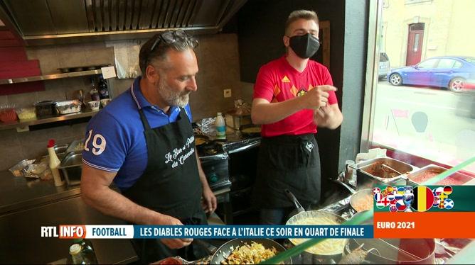 Euro 2020, Belgique-Italie: frites contre pâtes, le défi est lancé à Soumagne