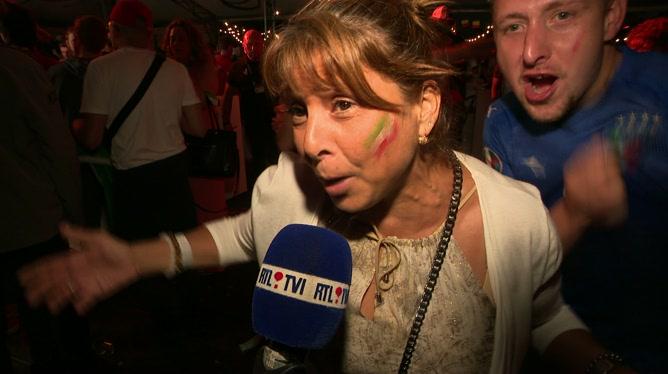 Diables Rouges: les supporters italiens sont heureux