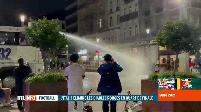Des débordements constatés à Bruxelles à l'issue du match Belgique-Italie